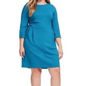 Amanda Uprichard Chelsea Dress Plus Size 2X teal